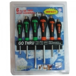 6PC MECHANIC GO THRU SCREWDRIVER SET